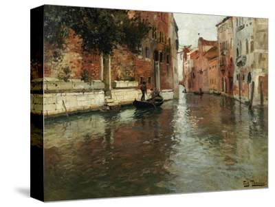 A Venetian Backwater-Fritz Thaulow-Stretched Canvas Print