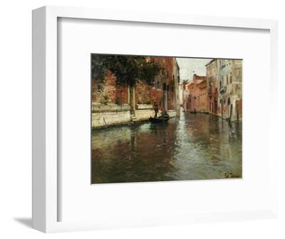 A Venetian Backwater-Fritz Thaulow-Framed Premium Giclee Print