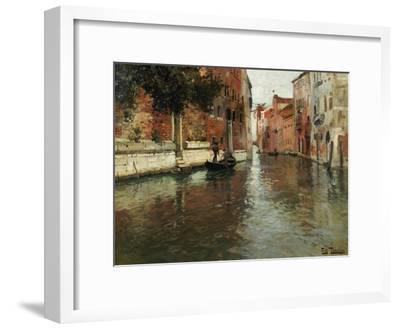 A Venetian Backwater-Fritz Thaulow-Framed Giclee Print
