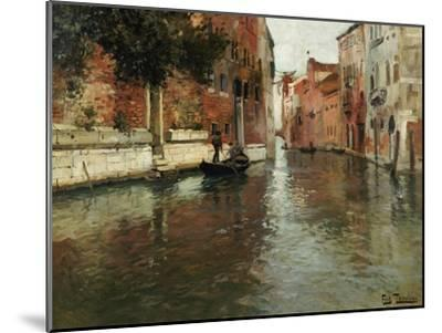A Venetian Backwater-Fritz Thaulow-Mounted Giclee Print
