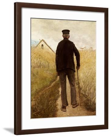 Old Man Walking in a Rye Field-Laurits Andersen Ring-Framed Giclee Print