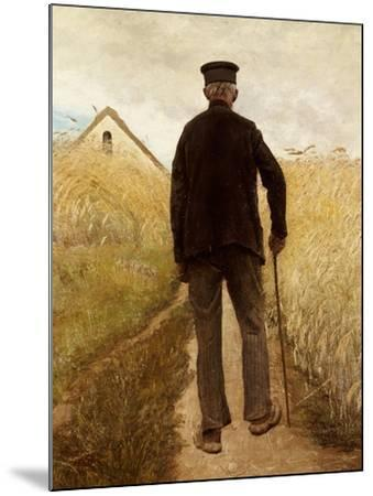 Old Man Walking in a Rye Field-Laurits Andersen Ring-Mounted Giclee Print