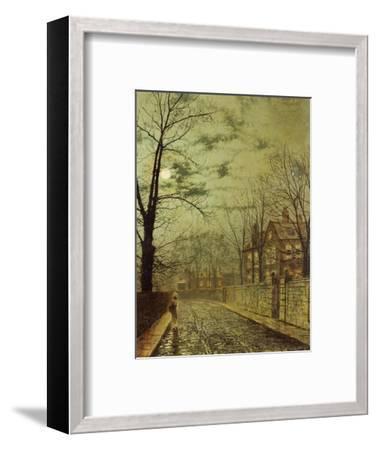 A Moonlit Road-John Atkinson Grimshaw-Framed Premium Giclee Print