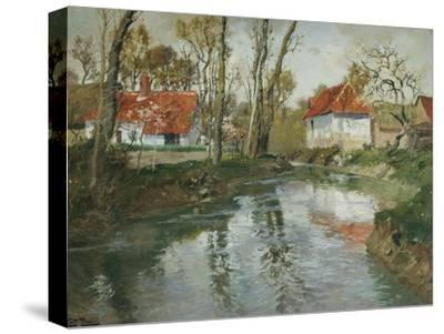 La Laita a Quimperle-Fritz Thaulow-Stretched Canvas Print