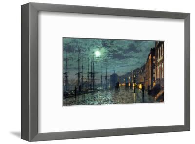 City Docks by Moonlight-John Atkinson Grimshaw-Framed Premium Giclee Print