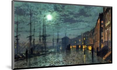 City Docks by Moonlight-John Atkinson Grimshaw-Mounted Premium Giclee Print