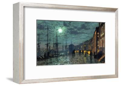City Docks by Moonlight-John Atkinson Grimshaw-Framed Giclee Print