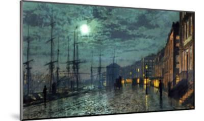 City Docks by Moonlight-John Atkinson Grimshaw-Mounted Giclee Print