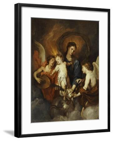 The Madonna and Child with Two Musical Angels-Sir Anthony Van Dyck-Framed Giclee Print