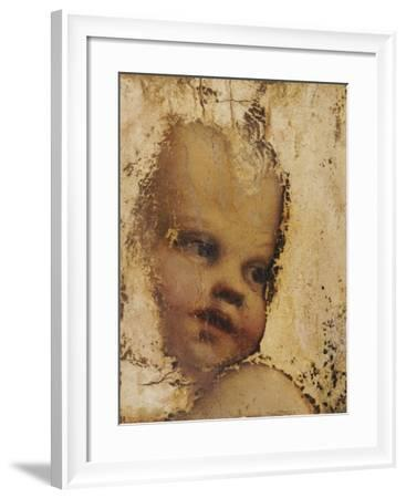 The Head of a Child, a Fragment-Correggio-Framed Giclee Print