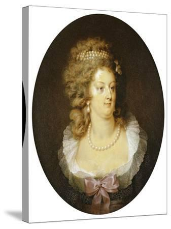 Bust Portrait of Marie-Antoinette (1755-1793)-Jean Guerin-Stretched Canvas Print
