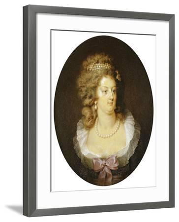 Bust Portrait of Marie-Antoinette (1755-1793)-Jean Guerin-Framed Giclee Print