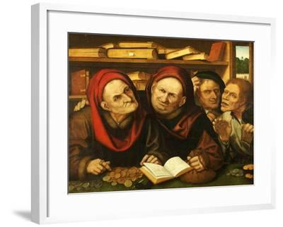 Suppliant Peasants in the Office of Two Tax Collectors-Quentin Metsys-Framed Giclee Print