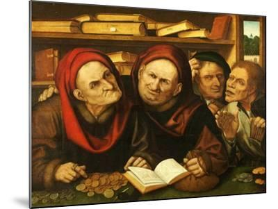 Suppliant Peasants in the Office of Two Tax Collectors-Quentin Metsys-Mounted Giclee Print