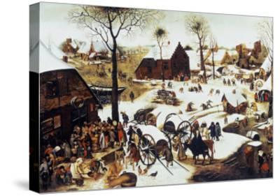 The Census at Bethlehem-Pieter Bruegel the Elder-Stretched Canvas Print