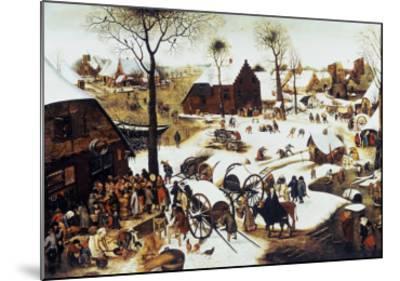 The Census at Bethlehem-Pieter Bruegel the Elder-Mounted Giclee Print