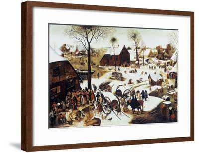 The Census at Bethlehem-Pieter Bruegel the Elder-Framed Giclee Print