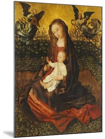 The Virgin and Child with Two Music-Making Angels in a Rose Garden-Rogier van der Weyden-Mounted Giclee Print
