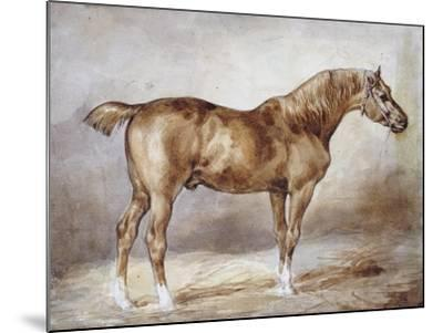 Horse in a Stable-Th?odore G?ricault-Mounted Giclee Print
