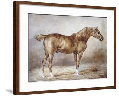 Horse in a Stable-Th?odore G?ricault-Framed Giclee Print