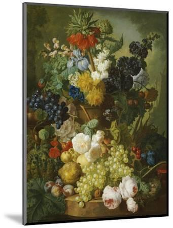 A Still Life of Flowers and Fruit-Jan van Os-Mounted Premium Giclee Print