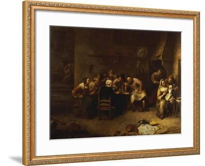 Peasants Drinking and Smoking in an Inn-Gillis Van Tilborch-Framed Giclee Print