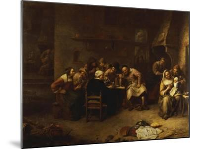 Peasants Drinking and Smoking in an Inn-Gillis Van Tilborch-Mounted Giclee Print