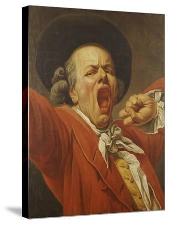 Self-Portrait as a Yawning Man, 1791-Francois-joseph Ducreux-Stretched Canvas Print