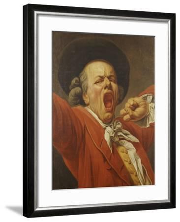 Self-Portrait as a Yawning Man, 1791-Francois-joseph Ducreux-Framed Giclee Print