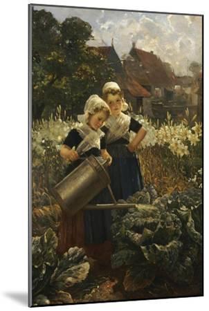 The Little Gardeners-Edmond Louyot-Mounted Giclee Print