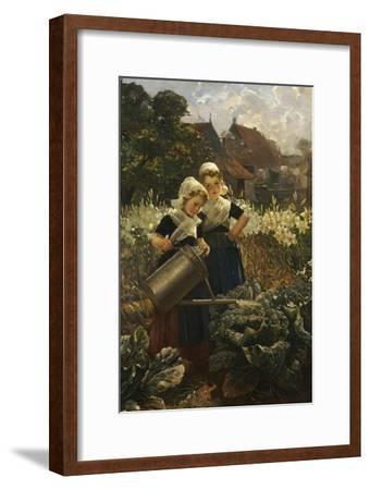 The Little Gardeners-Edmond Louyot-Framed Giclee Print