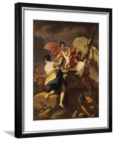 Thetis Dipping the Infant Achilles Into Water from the Styx-Antonio Balestra-Framed Giclee Print