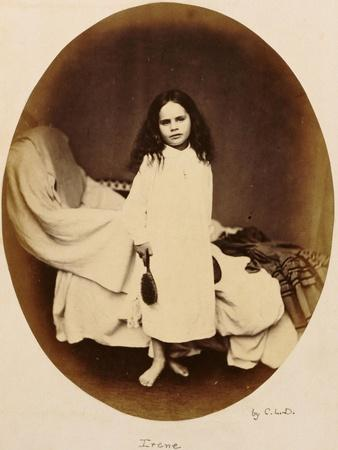Irene, circa 1863-Lewis Carroll-Stretched Canvas Print