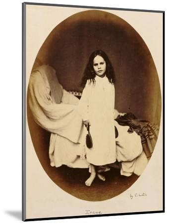 Irene, circa 1863-Lewis Carroll-Mounted Premium Giclee Print