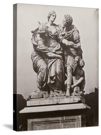 Arria and Poetus by Pierre le Paultre, Tuileries Gardens, 1859-Charles Negre-Stretched Canvas Print
