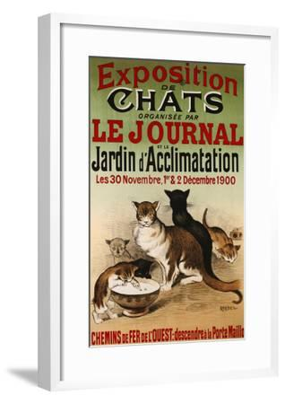 Exposition de Chats, 1900- Roedel-Framed Giclee Print