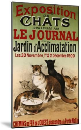Exposition de Chats, 1900- Roedel-Mounted Giclee Print