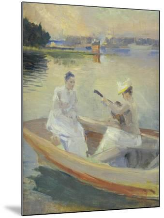 Summer Evening, Borga Harbour, 1889-Albert Edelfelt-Mounted Giclee Print