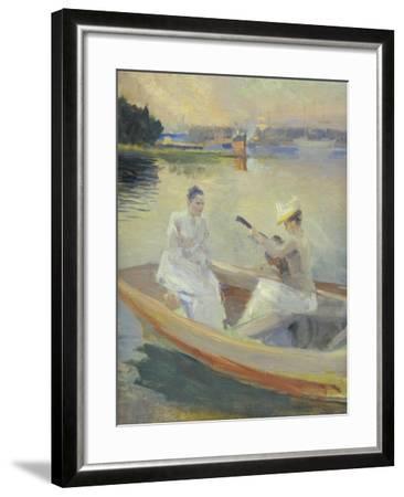 Summer Evening, Borga Harbour, 1889-Albert Edelfelt-Framed Giclee Print