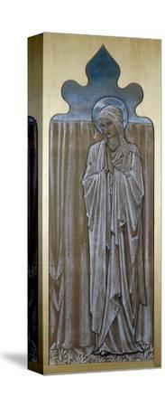 The Virgin Mary: a Cartoon for Stained Glass at Ashton-Under-Lyne, Lancashire-Edward Burne-Jones-Stretched Canvas Print