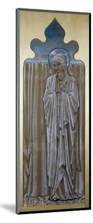 The Virgin Mary: a Cartoon for Stained Glass at Ashton-Under-Lyne, Lancashire-Edward Burne-Jones-Mounted Giclee Print