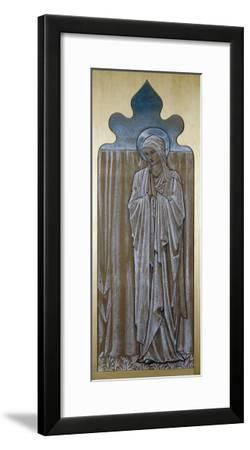 The Virgin Mary: a Cartoon for Stained Glass at Ashton-Under-Lyne, Lancashire-Edward Burne-Jones-Framed Giclee Print