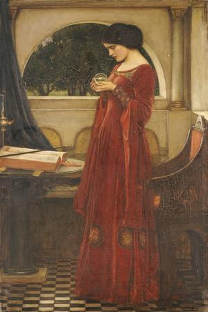 The Crystal Ball, 1902-John William Waterhouse-Stretched Canvas Print