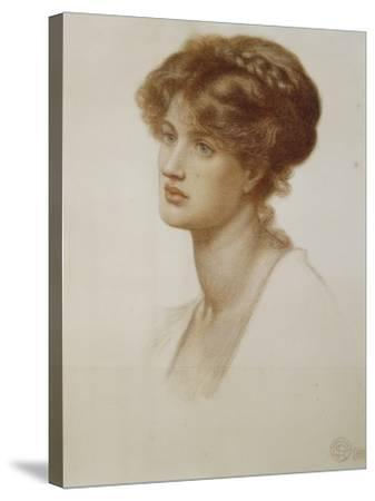 Portrait of Mrs. William J. Stillman, Nee Marie Spartali, Bust Length, 1869-Dante Gabriel Rossetti-Stretched Canvas Print