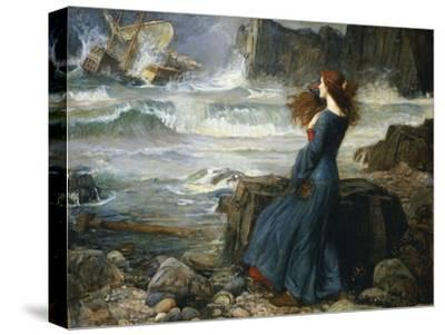 Miranda, the Tempest, 1916-John William Waterhouse-Stretched Canvas Print