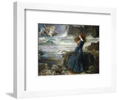 Miranda, the Tempest, 1916-John William Waterhouse-Framed Premium Giclee Print
