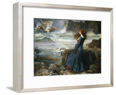 Miranda, the Tempest, 1916-John William Waterhouse-Framed Giclee Print
