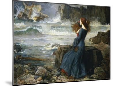 Miranda, the Tempest, 1916-John William Waterhouse-Mounted Giclee Print