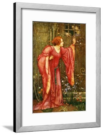 Stone Walls Do Not a Prison Make, Nor Iron Bars a Cage-Edward Reginald Frampton-Framed Giclee Print