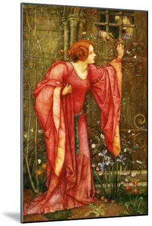 Stone Walls Do Not a Prison Make, Nor Iron Bars a Cage-Edward Reginald Frampton-Mounted Giclee Print